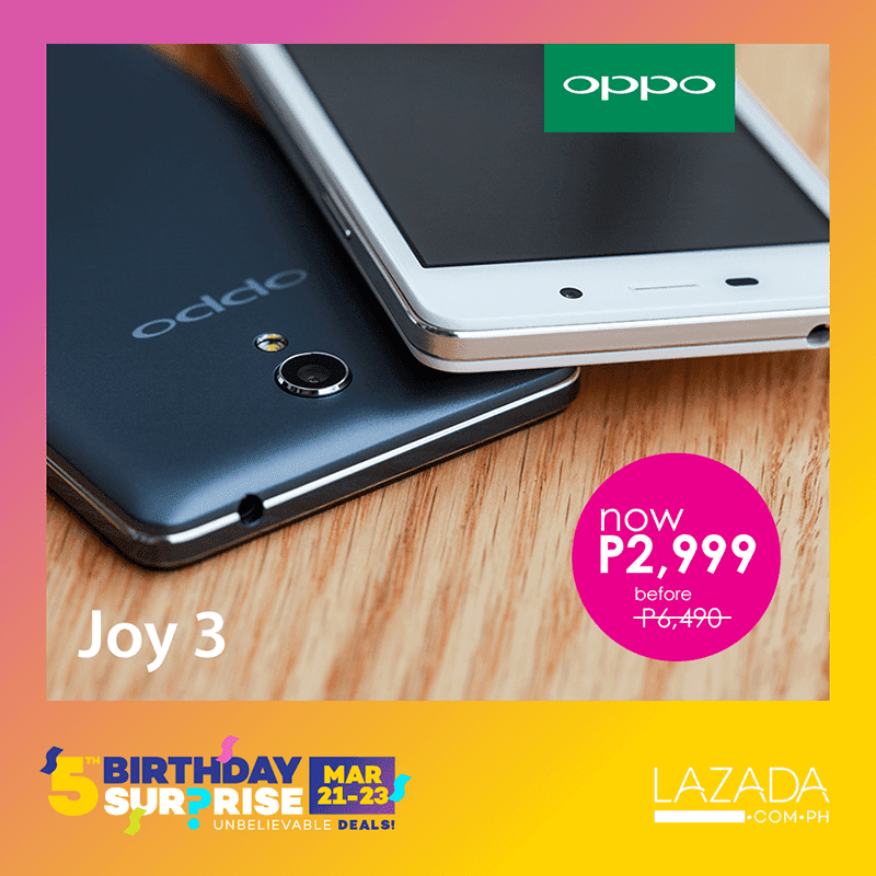 oppo-joy-3-lazada List Of OPPO Smartphones To Be On Sale At Lazada! Technology