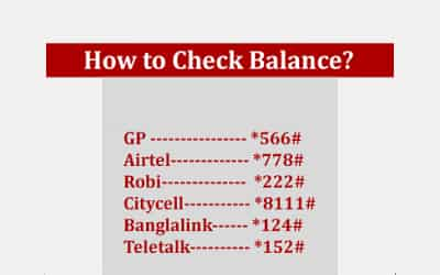 How to Find or Know Balance in GP, Grameenphone, Teletalk, Banglalink, Robi, Citycell and Airtel