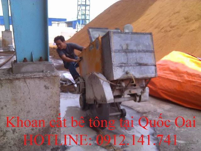 Khoan cắt bê tông tại Quốc Oai
