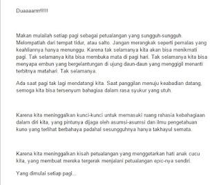 Salah satu bagian dari tulisan Mas Arif Budiman yang menginspirasi saya