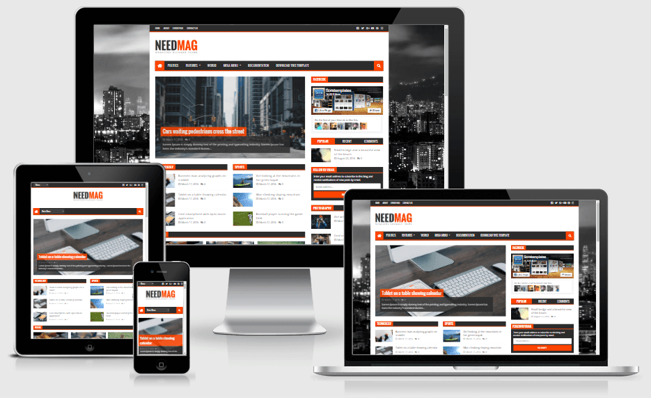 NeedMag Responsive Magazine Blogger Template