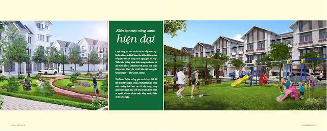 Tiện ích xanh kết hợp không gian cuộc sống hiện đại tại The Green Daisy
