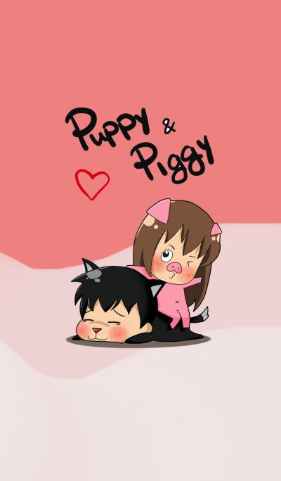 Puppy & Piggy Love Story