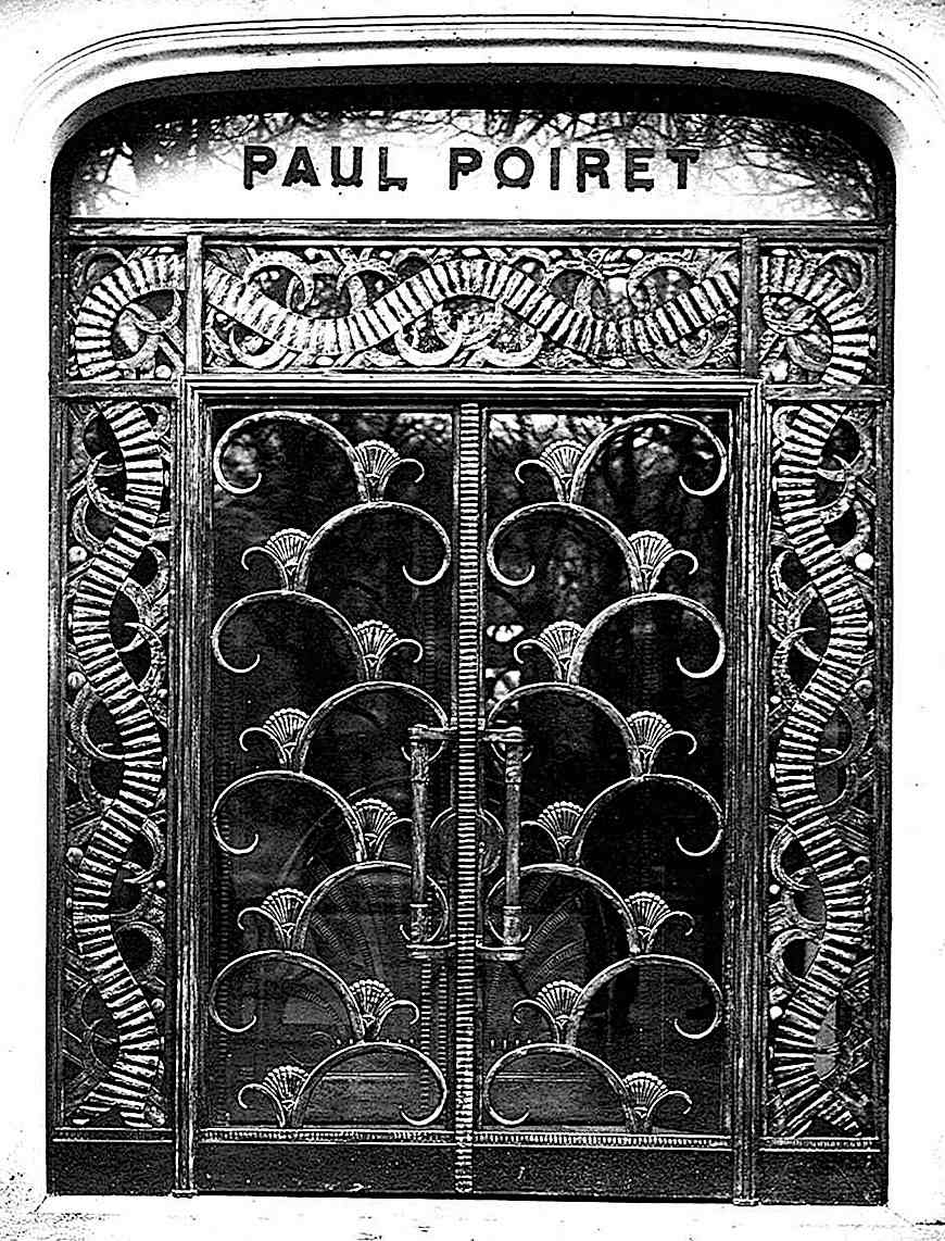 a 1920 metal and glass door for Paul Poiret