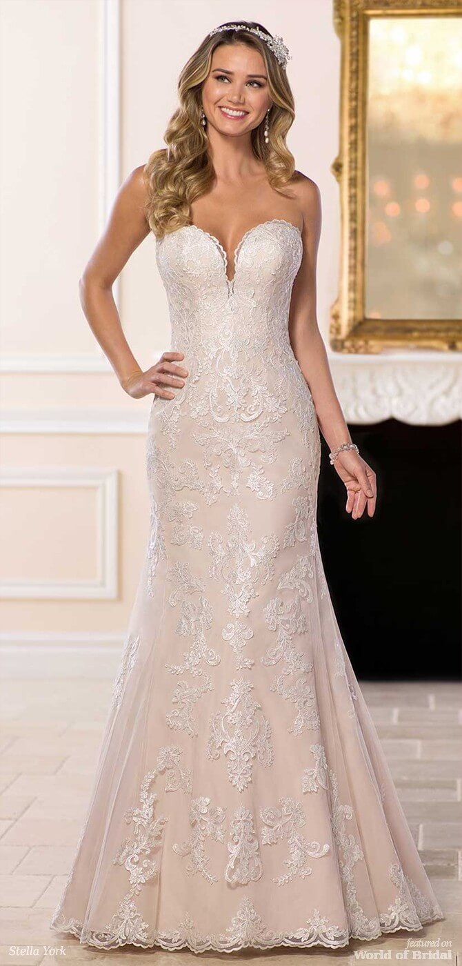 e48a6c64c40 ... Stella York Spring 2018 Affordable Traditional Wedding Dress