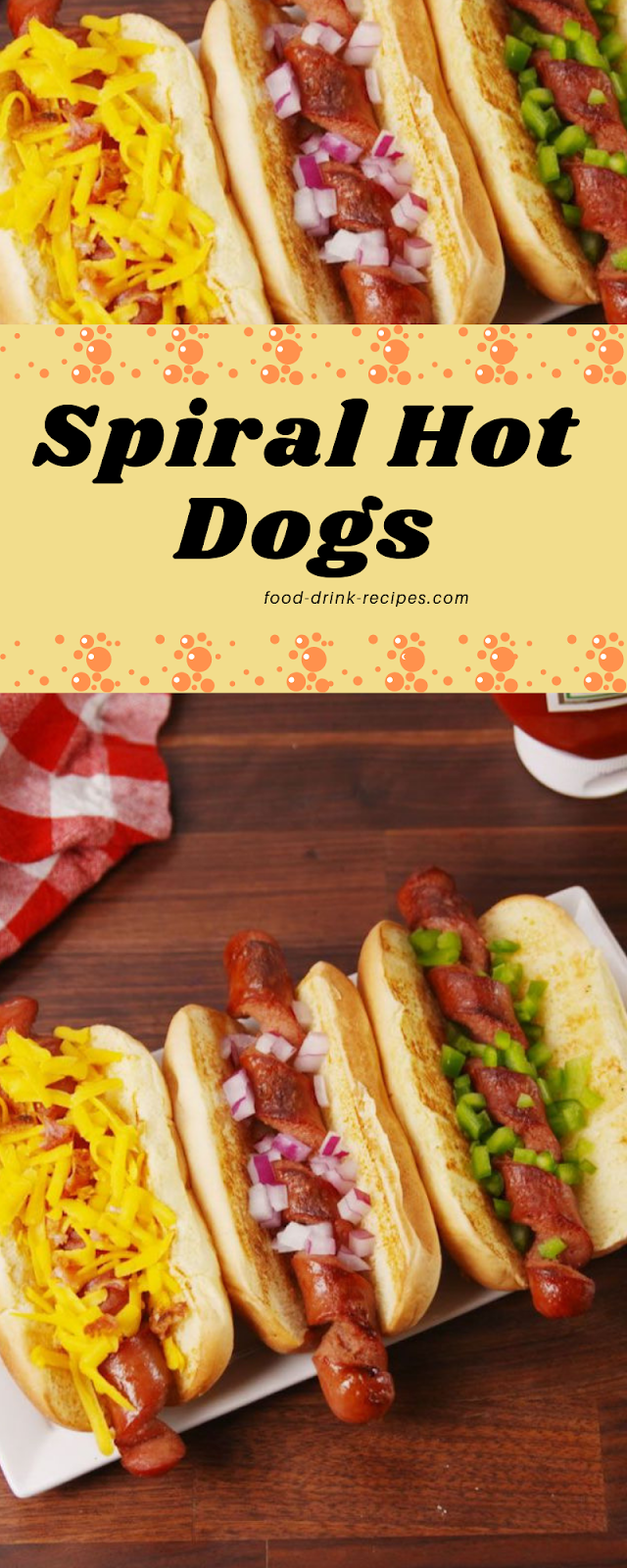 Spiral Hot Dogs  - food-drink-recipes.com