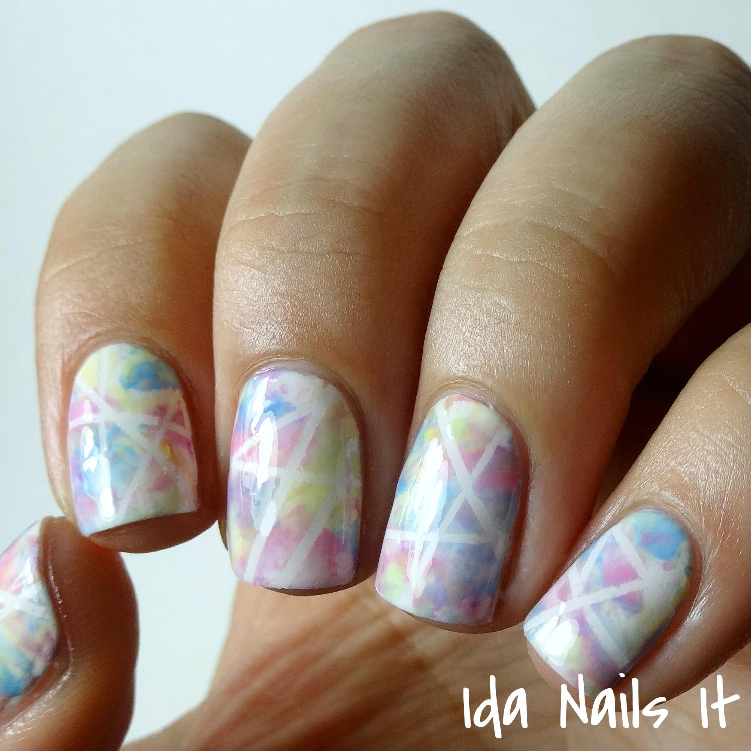 Finger Nail Paint: Ida Nails It: Paint All The Nails Presents: Pastel Geometric