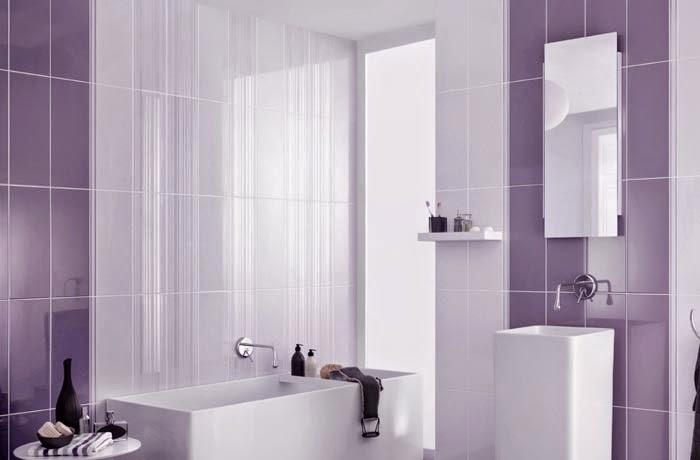 Ba os de color lila colores en casa for Azulejos bano morado