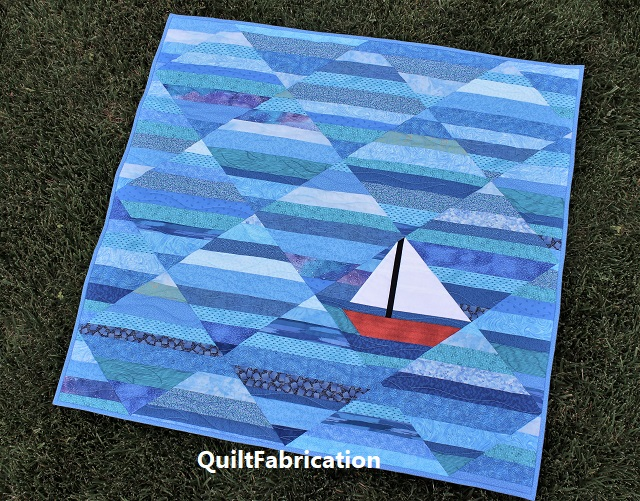 Seafarer baby quilt by QuiltFabrication