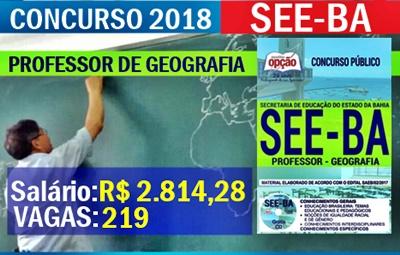 Concurso SEE-BA 2018 Professor de Geografia