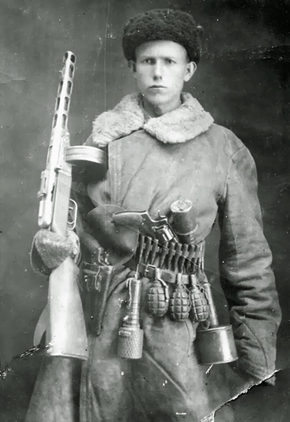A Soviet partisan, 1944