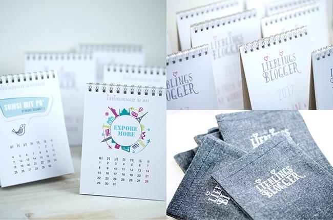 DIY Tischkalender für meine Lieblingsblogger