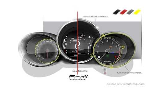 Comparison of 500X instrument clusters