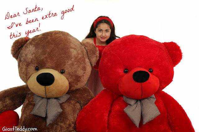 A Giant Teddy bear is on her Christmas Wish List this year