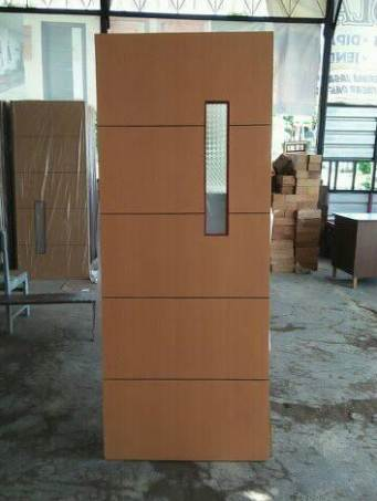 Pintu Rumah Minimalis Type 45 lapisan kayu jati