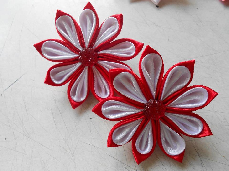 Artesania SIMMERMAN Flores en Cintas decoraciones para el