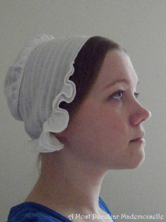 A Most Peculiar Mademoiselle 1840s Cap Lace Trimmed And