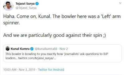 Tejasvi surya trolls krunal kamra