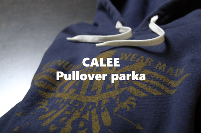 "CALEE ""Pullover parka"" Price:17,280yen"