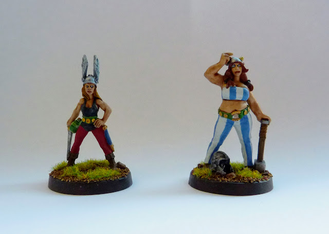 Rennie & Tilda - female Asterix and Obelix - from Hasslefree Minatures.