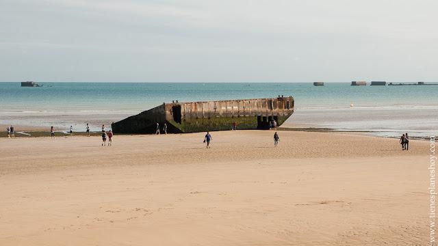 Arromanches viaje Normandia roadtrip Francia turismo Guerra Mundial desembarco
