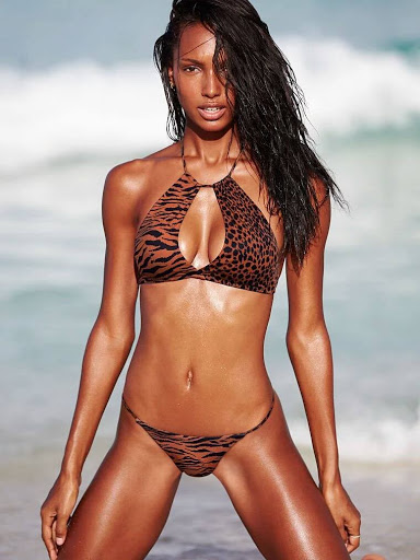 Jasmine Tookes hot in sexy bikini swimwear photo shoot for Victoria's Secret model