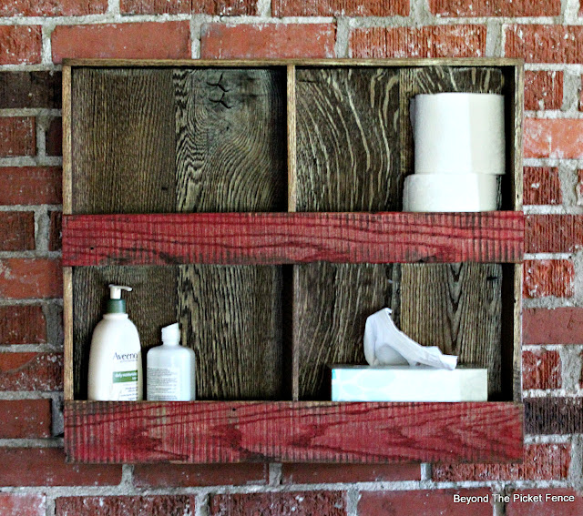 Barnwood Cubby Wall Shelf