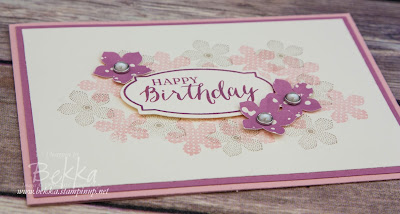 Pretty Pinks Birthday Card Made Using Supplies from Stampin' Up! UK