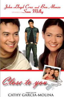 Close to You is a Filipino film starring John Lloyd Cruz, Bea Alonzo, and introducing Sam Milby.