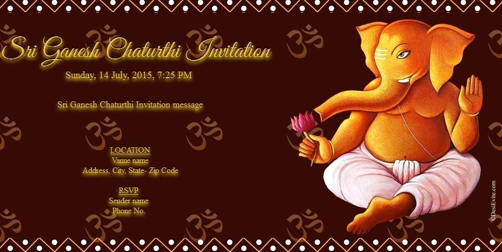 Happy ganesh chaturthi 2018 invitation messages card formats and ganesh chaturthi invitation card formats 2018 stopboris Image collections
