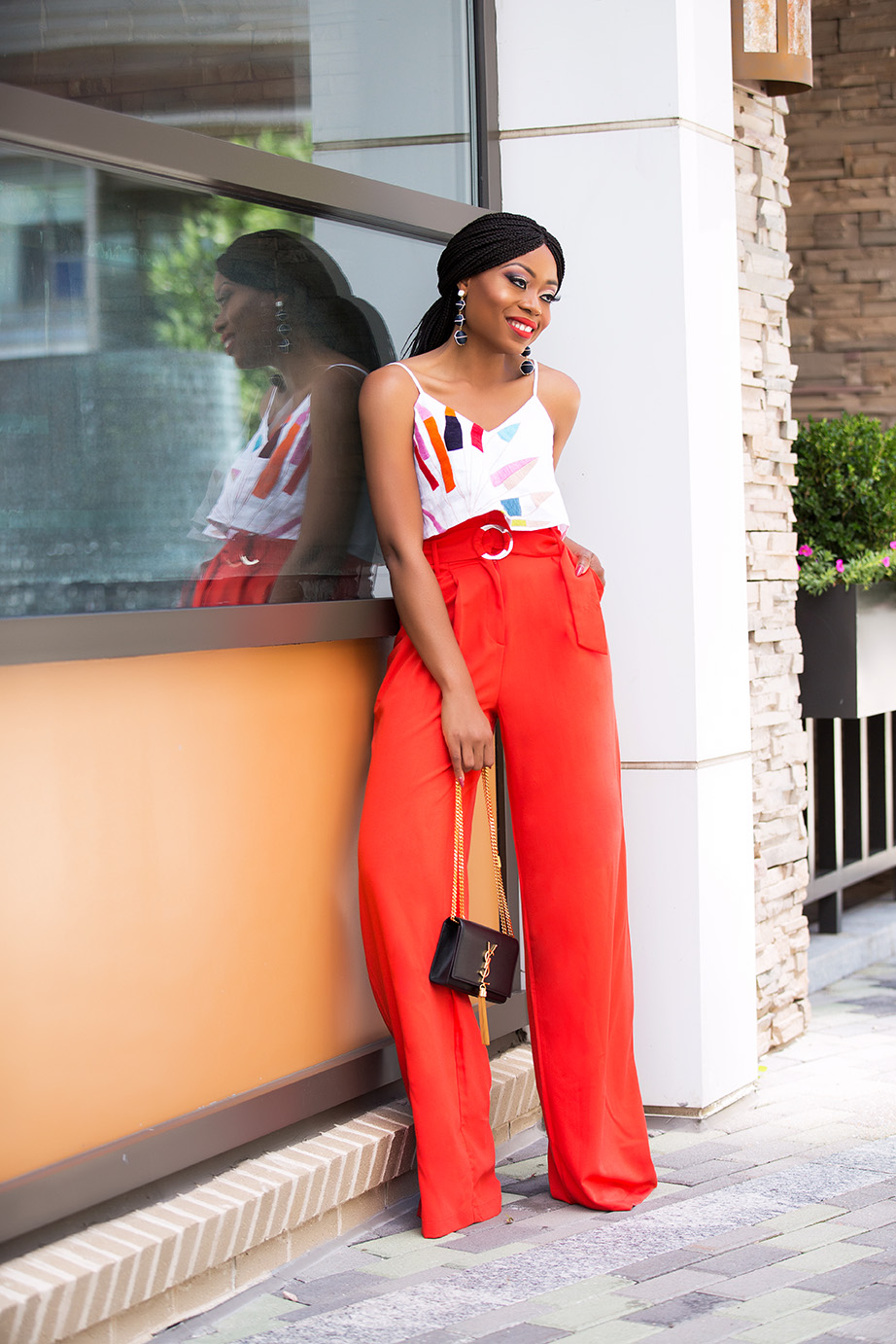 High waist trouser and crop top, www.jadore-fashion.com