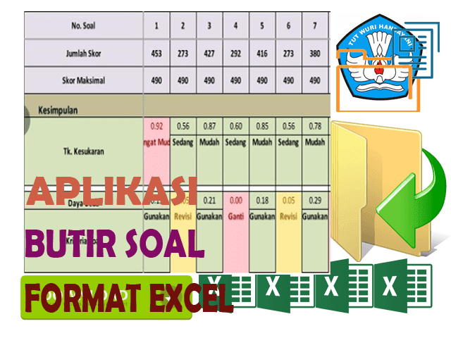Aplikasi Untuk Menganalisis Butir Soal Isian Format Excel