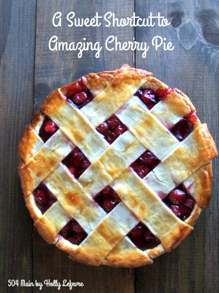 Cherry Pie can be easy to make and yummy to eat.