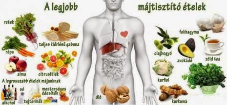 A máj megtisztítása a méreganyagoktól Májtisztító ételek fogyasztása a máj méregtelenítés érdekében
