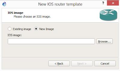 Menentukan image ios yang akan digunakan