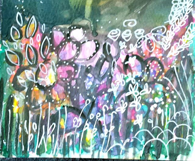 Sprinkle On Glitter Blog//flower bed