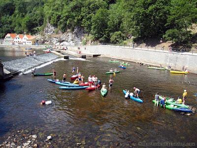 Vltava River in cesky krumlov