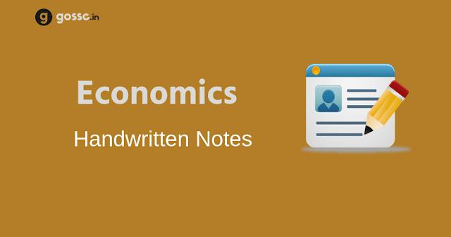 Economics Handwritten Notes