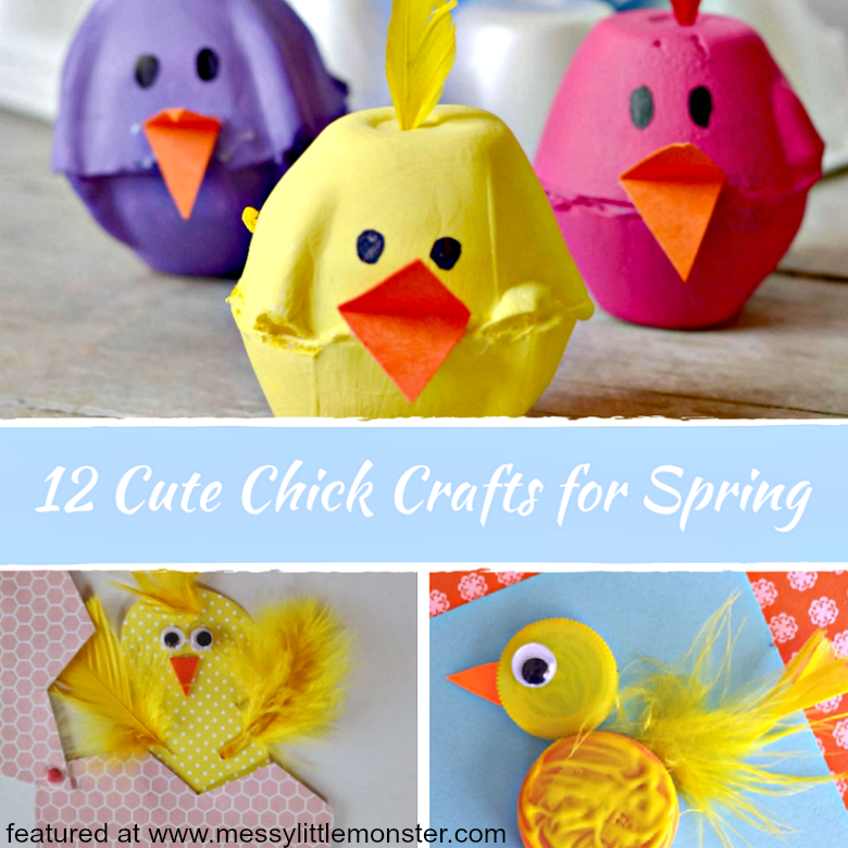 Cute Chick Crafts For Spring Messy Little Monster