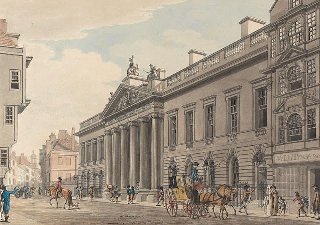 East India House by Thomas Malton, 1800
