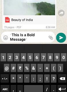 Send Bold messages on WhatsApp