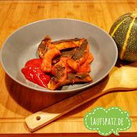 vegane Kürbis Wedges aus dem Ofen mit würziger Hanfproteinkruste