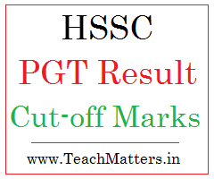 image : HSSC PGT Result, Cut-off Marks 2018 @ www.TeachMatters.in