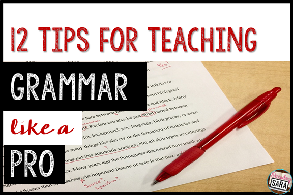 Grammar tends to be a dry and boring subject; all English teachers know this. So, how can we make it more engaging and exciting for our students? I'm sharing 12 tips for teaching grammar like a pro in this blog post, so don't miss out on these 12 ways to spice up your grammar instruction!