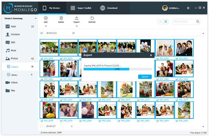 how to send photos by we transfer