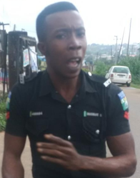 bribe seeking police officer akobo ibadan