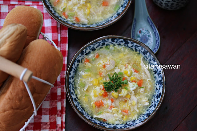 ayam jagung manis resepi terbaik Resepi Sup Ayam Cincang Enak dan Mudah