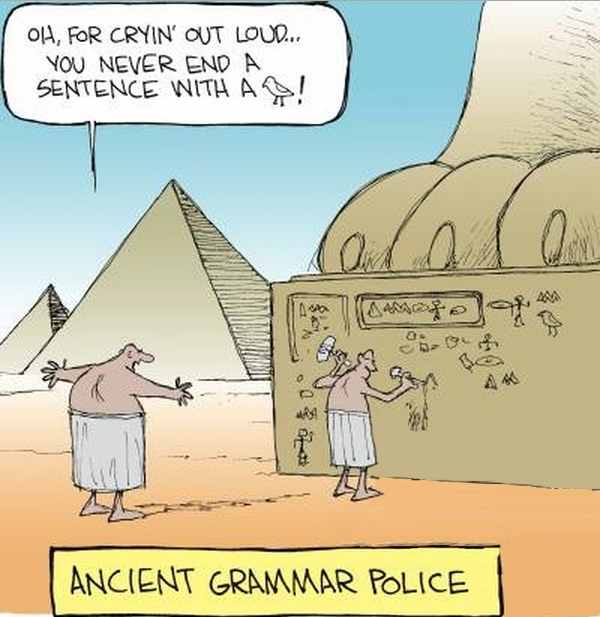 Funny Egyptian Ancient Grammar Police Cartoon Joke Picture