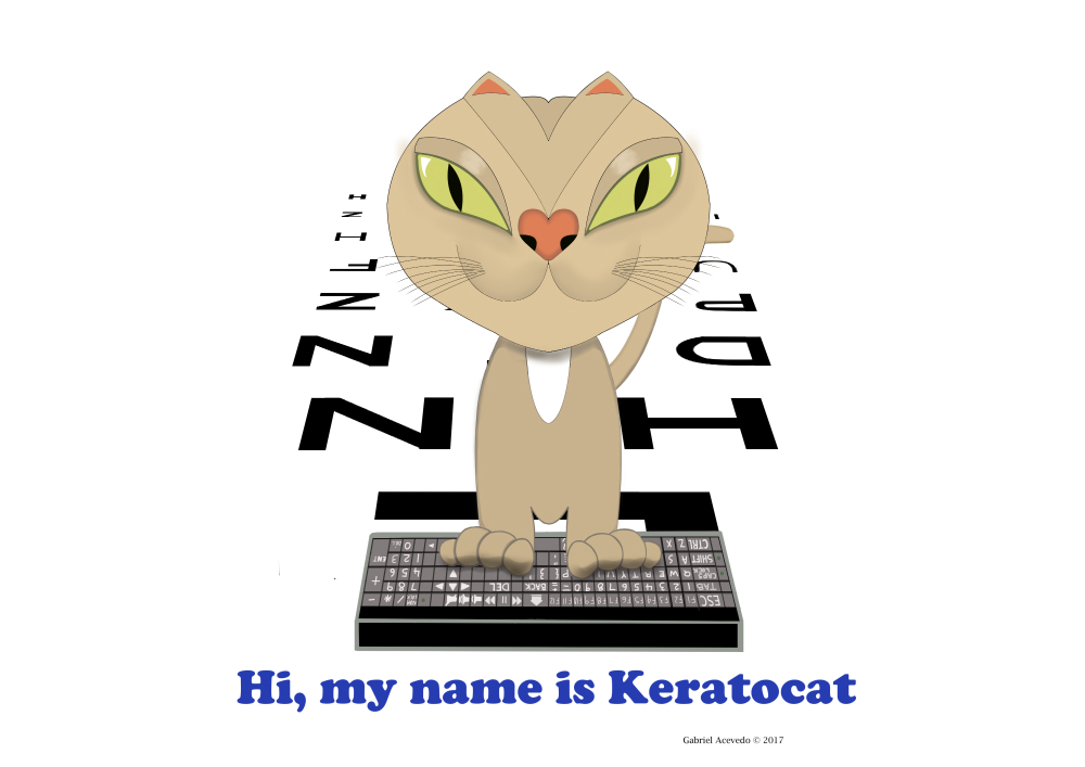 Keratoconus Cartoon: KERATOCAT by GABRIEL ACEVEDO