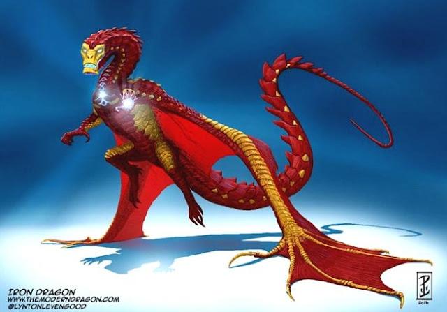 E se heróis e vilões famosos fossem dragões?